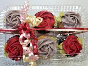 Elegant 6 Pack Cupcakes