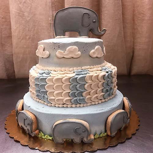 3 Tier Baby Shower Cake 1