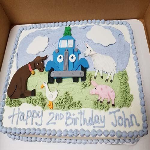 Animal Sheet Cake Birthday 1